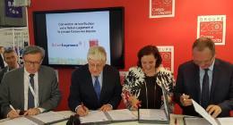 La caisse des dépôts et action logement s'engagent ensemble pour concrétiser un dispositif financier innovant en faveur du logement social