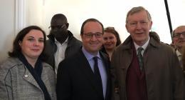 Visite de François Hollande sur un programme immobilier d'envergure à Romainville